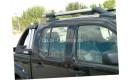 """Алюминиевые рейлинги """"Maxport black/chrome"""" для Nissan"""