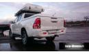 Бампер задний усиленный с квадратом 50х50 композитный АБС на Toyota Hilux от 2015г. выпуска