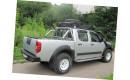 """Алюминиевая крышка кузова Rollback с дугами """"Afcarfiber"""" на Nissan Navara"""