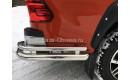 Защита заднего бампера  уголки 76мм. и 42мм. на Toyota HiLux от 2015г. выпуска
