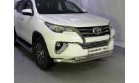 Защита переднего бампера для Toyota Fortuner