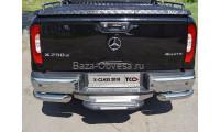Защита заднего бампера на Mercedes-Benz X-Class