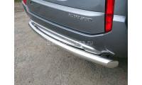 Защита заднего бампера Pajero Sport III с 2015г. выпуска