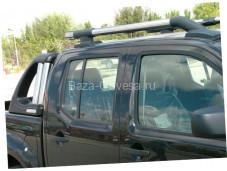 """Алюминиевые рейлинги """"Maxport blackchrome"""" для Nissan Navara"""