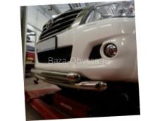 Двойная защита переднего бампера d76/60 для Toyota Hilux до 2014г. выпуска