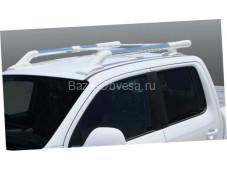 "Алюминиевые рейлинги ""Maxport white/chrome"" для пикапа Nissan Navara"