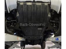 """Композитная защита двигателя """"АВС-Дизайн"""" на Mitsubishi Pajero Sport II с 2008 до 2016 г. выпуска"""