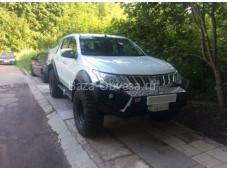Бампер передний усиленный DDR с фарами и площадкой под лебедку на Fiat Fullback