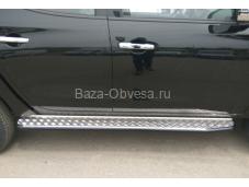 """Пороги силовые """"DDR"""" на Mitsubishi L200 с 2015г. выпуска"""