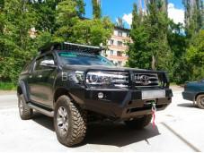 """Бампер передний усиленный """"DDR"""" на Toyota Hilux с 2015г. выпуска"""