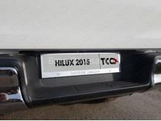 """Рамка номерного знака (комплект) """"TCC"""" на Toyota Hilux с 2015г. выпуска"""