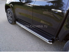"""Защита порогов MERXCL18-19 """"TCC"""" на Mercedes-Benz X-Class"""