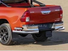 Защита заднего бампера R.5722.006 на Toyota HiLux от 2015г. выпуска