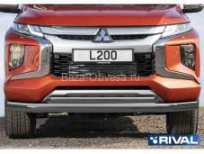 Защита переднего бампера R.4016.001 для Mitsubishi L200 с 2019г. выпуска