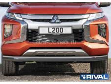 Защита переднего бампера R.4016.002 для Mitsubishi L200 с 2019г. выпуска