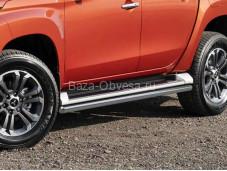 Защита порогов R.4016.005 для Mitsubishi L200 с 2019г. выпуска