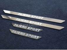 Накладки на пороги MITPASPOR16-11 на Pajero Sport III с 2015г. выпуска