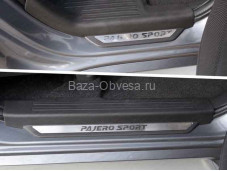 Накладки на пороги MITPASPOR16-12 на Pajero Sport III с 2015г. выпуска