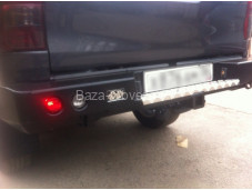 "Бампер задний усиленный ""DDR"" с фонорями на Toyota Hilux с 2015г. выпуска"