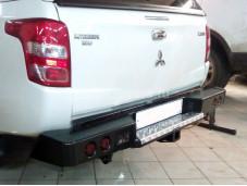 "Бампер задний усиленный ""DDR"" на Mitsubishi L200 с 2015г. выпуска"
