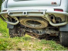 Бампер задний RIF150-20170 на Toyota Prado 150 с 2009г. выпуска