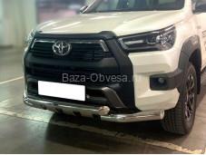 Защита бампера TH20_1.2 для Toyota Hilux с 2015г. выпуска