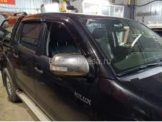 Дефлекторы боковых окон для Toyota Hilux с 2011 до 2015г. выпуска