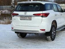 Защита заднего бампера TOYFORT 17-32 для Toyota Fortuner