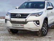Защита переднего бампера TOYFORT 17-21 для Toyota Fortuner