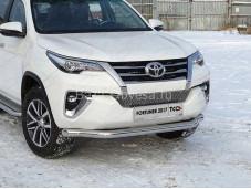 Защита переднего бампера TOYFORT 17-22 для Toyota Fortuner