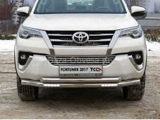 Защита переднего бампера TOYFORT 17-24 для Toyota Fortuner