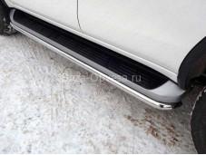 Защита порогов TOYFORT 17-35 для Toyota Fortuner