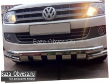 Защита переднего бампера Shark для Volkswagen