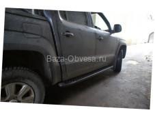 "Пороги AB004 ARTEMIS BLACK ""Doga Fiber"" на Toyota Hilux с 2011 до 2015г. выпуска"