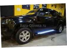 "Пороги ab004 ""Artemis light"" для Volkswagen Amarok"
