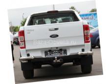 Защита заднего бампера уголки D76 на Ford Ranger с 2012 года выпуска