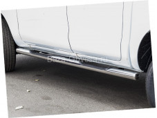Пороги труба 76мм с проступями для Ford Ranger от 2012г. выпуска
