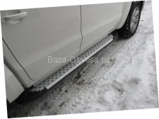 "Пороги AB004 ARTEMIS ""Doga Fiber"" на Mazda BT-50"