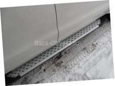 """Пороги AB004 ARTEMIS """"Doga Fiber"""" на Mitsubishi L200 с 2006 до 2013г. выпуска"""
