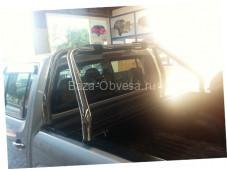 """Алюминиевая крышка кузова Rollback с дугами """"Afcarfiber"""" на Mitsubishi L200 с 2006 до 2013г. выпуска"""