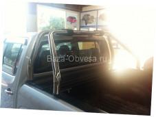 """Алюминиевая крышка кузова Rollback с дугами """"Afcarfiber"""" на Nissan NP300"""