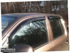 """Дефлекторы боковых окон из акрилового стекла """"EGR"""" на Volkswagen Amarok"""