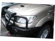 """Бампер передний усиленный """"KDT"""" на Toyota Hilux с 2011 до 2015 г. выпуска"""