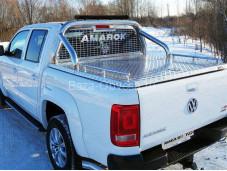 """Алюминиевая крышка кузова VWAMAR17-07 """"ТСС"""" на Volkswagen Amarok"""