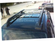 """Рейлинги из алюминия """"Maxport black"""" для Nissan Navara"""