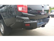 Бампер задний усиленный с квадратом 50х50 композитный АБС на Fiat Fullback