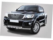 Двойная защита переднего бампера для Toyota Hilux до 2014г. выпуска