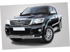 Двойная защита переднего бампера d76 для Toyota Hilux до 2014г. выпуска