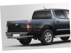 Защита заднего бампера волна D60 на Toyota Hilux до 2015г. выпуска