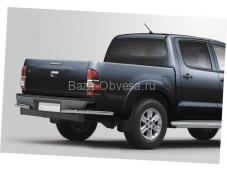 Защита заднего бампера уголки D60 на Toyota Hilux до 2015г. выпуска